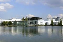 Новый центр торговой ярмарки Мюнхена в Muenchen Riem Стоковое фото RF