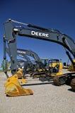 Новый backhoe John Deere стоковые фото