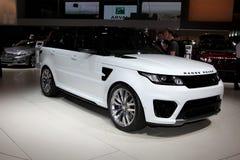 Новый Land Rover стоковые фото