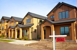 новый townhouse Стоковое Изображение
