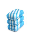 3 новых бара мыла цвета на белой предпосылке Стоковое Фото