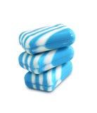3 новых бара мыла цвета на белой предпосылке Стоковые Изображения RF