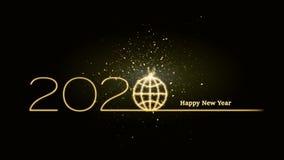 2020 Новых Годов непрогнозируемых на глобальном уровне стоковые фотографии rf