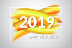 2019 Новых Годов также вектор иллюстрации притяжки corel Стоковое Фото