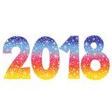 2018 Новых Годов две тысячи 18 Стоковые Изображения