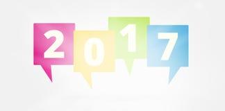 2017 Новых Годов иллюстрация вектора