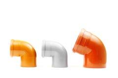3 новых серых и коричневых водоотводной трубы Стоковые Изображения RF