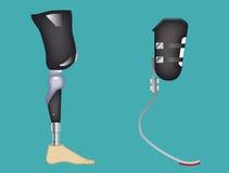 Нога волокна углерода Стоковая Фотография