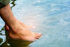 Нога выдерживает для того чтобы ослабить Стоковая Фотография