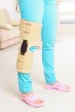Нога в клетках колена Стоковое Изображение RF