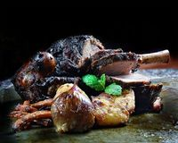 Нога жаркого овечки Стоковые Фото