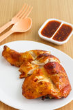 нога зажженная цыпленком Стоковые Изображения RF