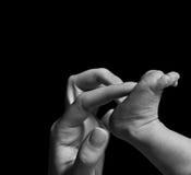 нога младенца Стоковое фото RF