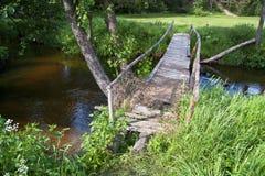 нога моста деревянная Стоковая Фотография RF