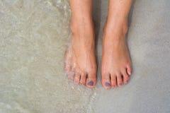 Нога на песке Стоковые Фотографии RF