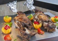 Нога овечки на carvery ресторана стоковые изображения
