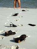 нога пар пляжа стоковые изображения