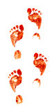 нога печатает пугающее Стоковая Фотография RF
