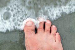 нога пляжа Стоковые Изображения RF