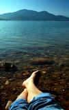 нога пляжа Стоковое фото RF