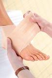 нога повязки Стоковые Фотографии RF