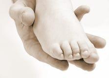 Нога ребенка Стоковые Изображения