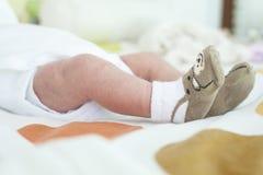 Нога ребёнка newborn Стоковые Изображения RF