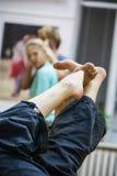Нога танцора стоковые изображения