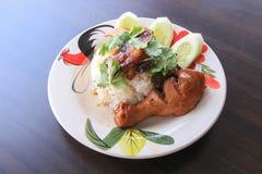 Нога цыпленка с рисом Стоковые Изображения RF