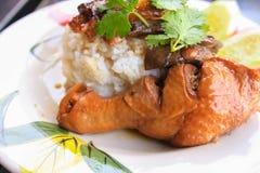 Нога цыпленка с рисом Стоковая Фотография RF