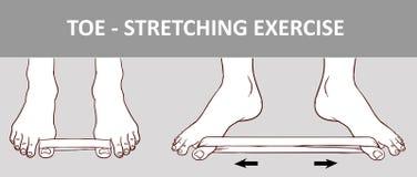 Нога ` s женщины при эластичная резиновая лента выполняя протягивающ тренировку Стоковые Изображения RF