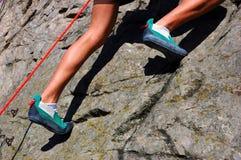 ноги альпиниста Стоковые Изображения