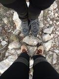 Ноги альпинистов стоковое фото rf