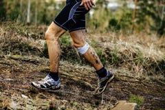 Ноги бегуна мужчины Стоковая Фотография RF