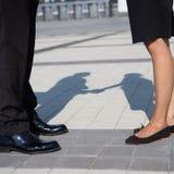 Ноги бизнесменов Стоковое Изображение