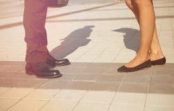 Ноги бизнесменов Стоковое Фото