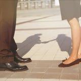 Ноги бизнесменов Стоковая Фотография