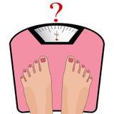 Ноги вектора на масштабе Концепция потери веса, здоровое lifest Стоковое Изображение RF