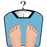Ноги вектора на масштабе Концепция потери веса, здоровое lifest Стоковое фото RF