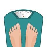 Ноги вектора на масштабе Концепция потери веса Стоковое Изображение RF