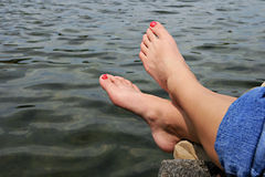 ноги воды Стоковые Изображения