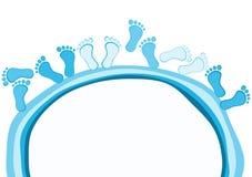 Ноги вокруг поздравительной открытки пруда бесплатная иллюстрация