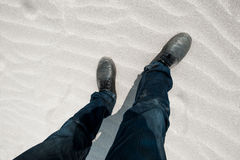 Ноги в идти Стоковая Фотография