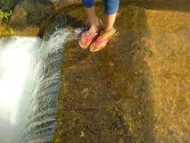 Ноги в чистой воде Стоковая Фотография RF