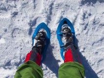Ноги в snowshoes Стоковое Изображение RF