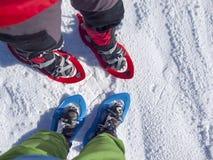 Ноги в snowshoes Стоковая Фотография RF