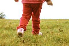 Ноги детей на луге стоковое фото