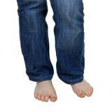 ноги джинсыов Стоковые Изображения