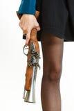 Ноги девушки в стиле steampunk Стоковые Фотографии RF