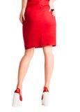Ноги девушки от задней части Стоковое фото RF